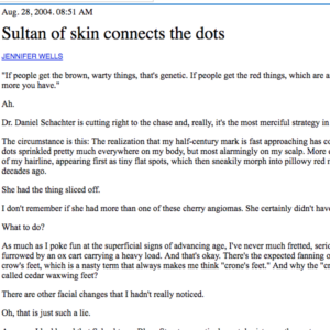 Sultan of skin